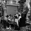 Worshippers Yangon Temple
