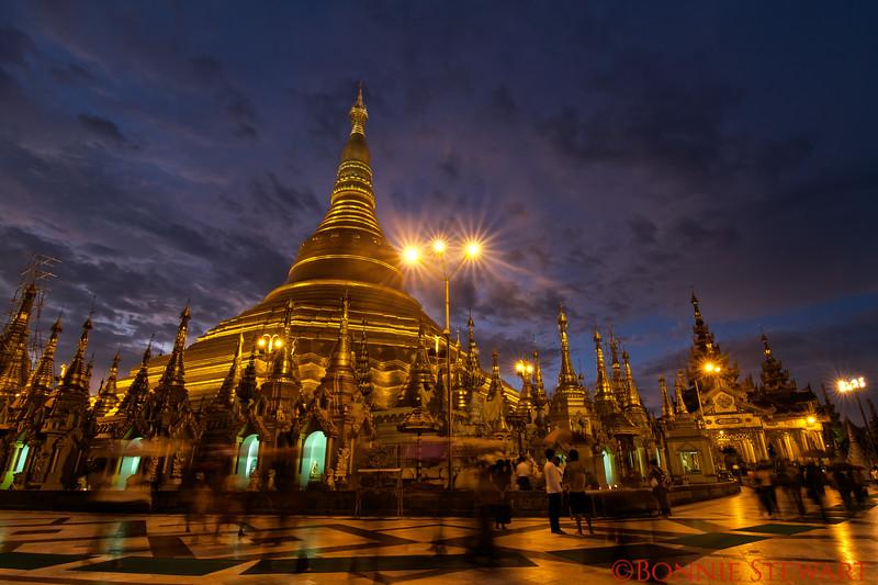 Shwedagon Pagoda in Yangon, the most important Pagoda in Myanmar