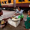 Food Vendors at the Yangon Train Station