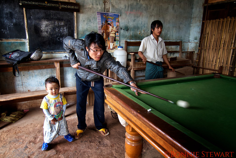 Pool in a local village in Bagan