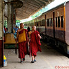 Monks and the Yangon Ring Train