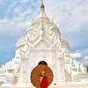 Young monk at the Hsin Phyu Mae Temple of Mingun Village just north of Mandalay