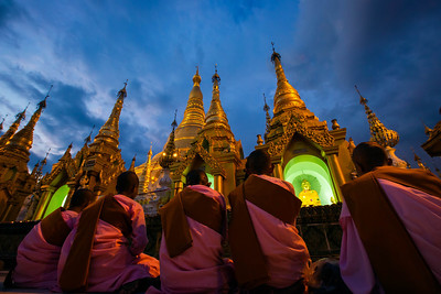 Prayers at the Shwedagon Pagoda