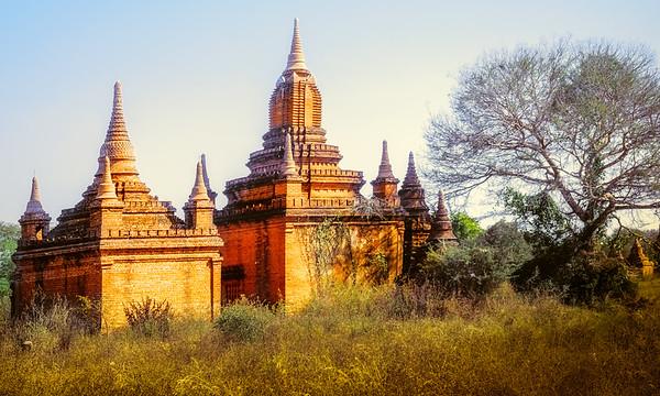 Temples & stupas on horse cart ride-Bagan, Myanmar