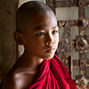 Young monk at the Hsin Phyu Mae Temple just north of Mandalay