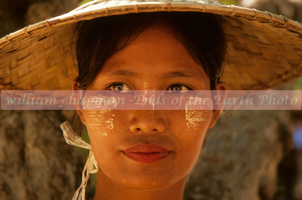 Face of Burma- traditional face painting applied to protect from sun