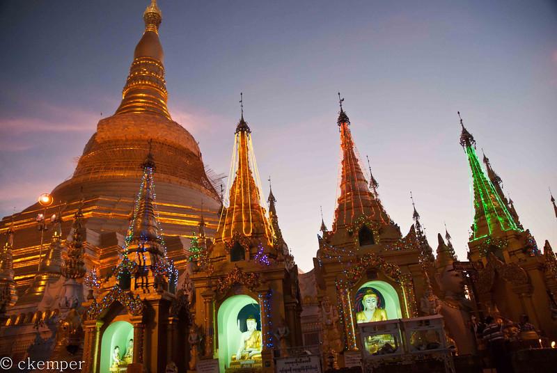 Shwedagon Pagoda Night<br /> Yangon, Burma