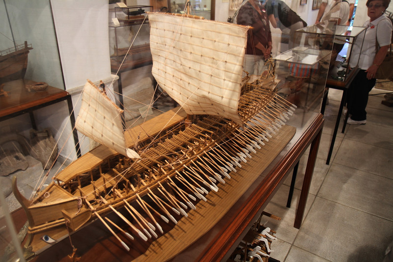 Replica of a ship the Romans used.