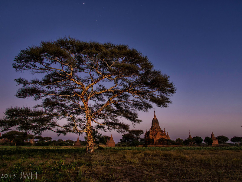 Bagan with the help of Celena's torch