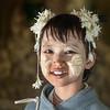 Mandalay flower seller...(in teak temple)