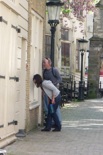 Rick and Stephanie window shopping in Gouda