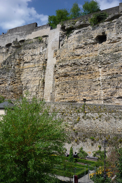 Old city wall Luxembourg City