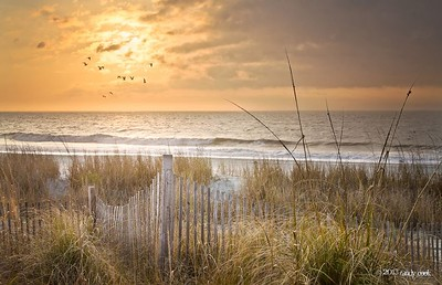 Myrtle Beach, South Carolina at sunrise.