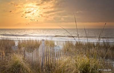 Myrtle Beach, South Carolina at sunrise.