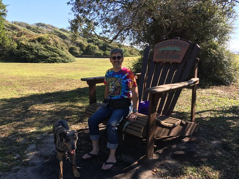 Obligatory huge chair.