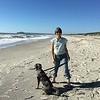 Augie's first beach!