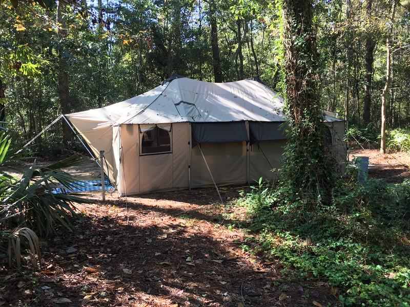 Old school tent!