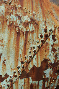 """I was """"riveted"""" by the rust pattern here."""