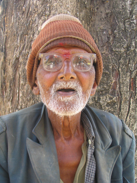 Old beggar.