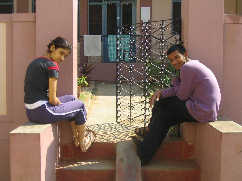 My December yoga teacher, Ajay, and his 18 year old bride, Mukta.