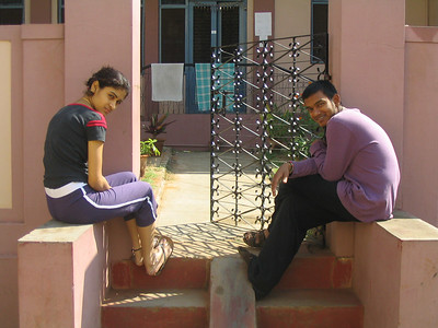 My December yoga teacher, Ajay, and his 18 year old bride, Mukta.