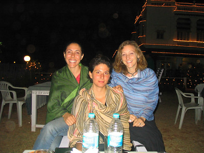 New Year's Eve with Sarit (her actual name) and Adi at the Green Hotel.