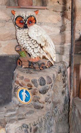 Ceramic Owl Mystery Castle 0512 21