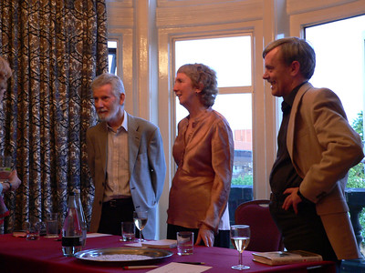 The mystery panel: Stuart Pawson, Ann Cleeves, and Martin Edwards