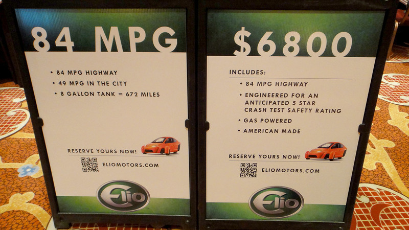 """Try the new car on the market """"ELIO""""."""