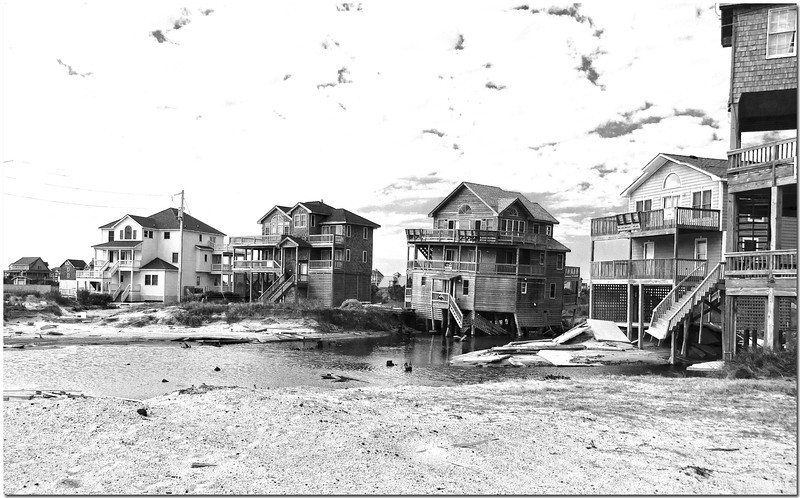 Feb 8<br /> Condemed<br /> Rodanthe NC, 6 months after Hurricane Irene