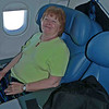 Mom in her 1st First Class seat!