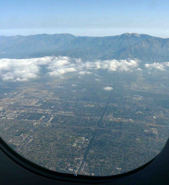 LA from the plane