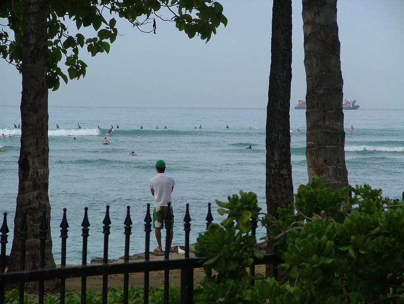 SURFS UP ON WAIKIKI BEACH