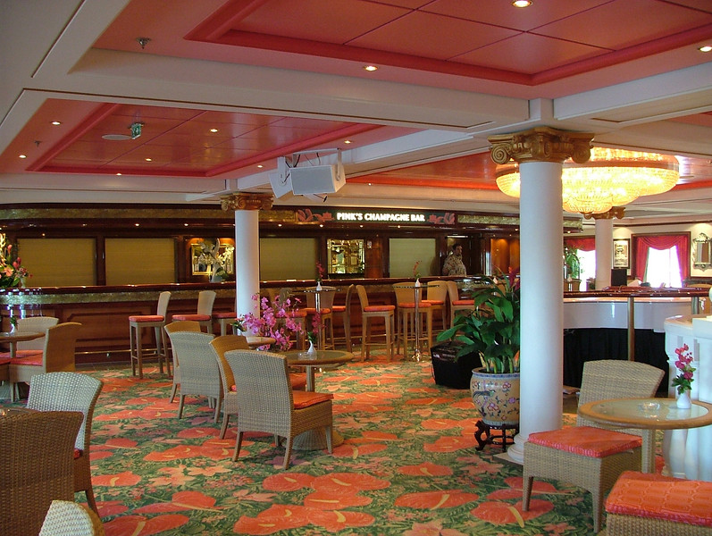 "PINKS CHAMPAGNE BAR ON NCL ""PRIDE OF HAWAII"""