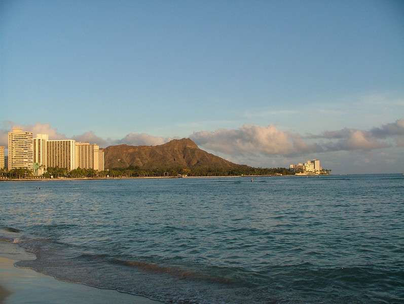 Awesome Diamond Head in the foreground taken here on Waikiki Beach