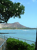 VIEW OF DIAMOND HEAD FROM THE SHERATON ON WAIKIKI BEACH