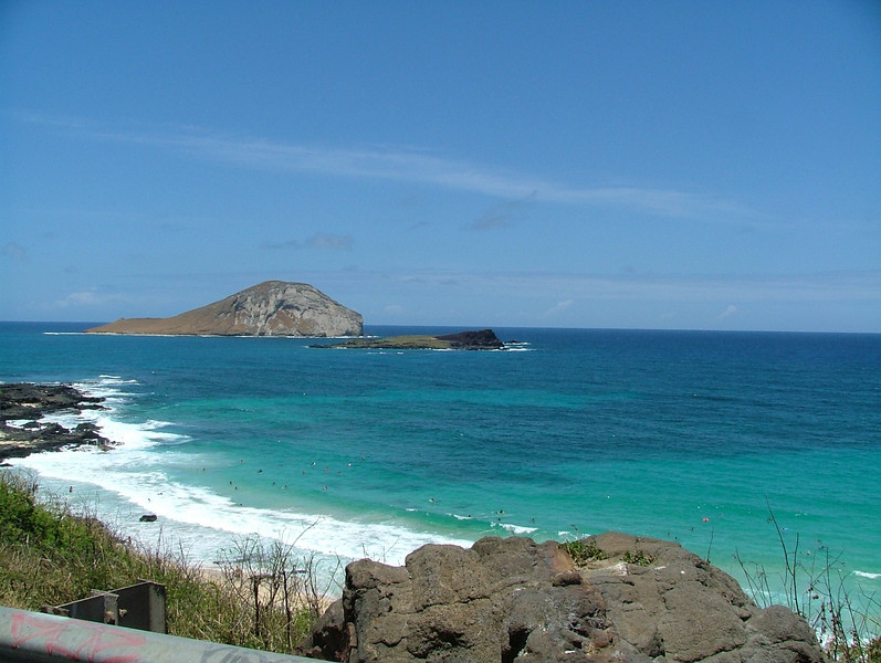 This is rabbit island, here on the island of Oahu
