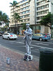 Would you beleive these people really spray themselves with metallic paint for entertainment here in Waikiki ?