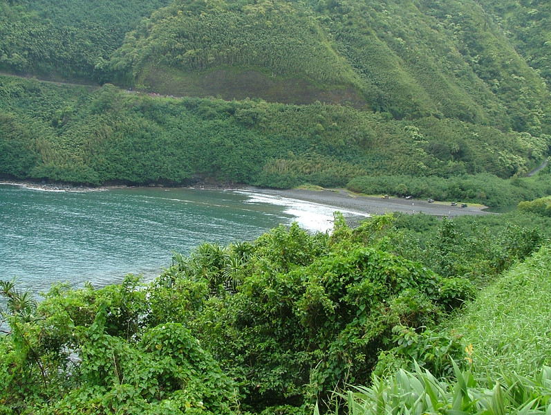BEAUTIFUL BLACK BEACH ON THE ROAD TO HANA MAUI