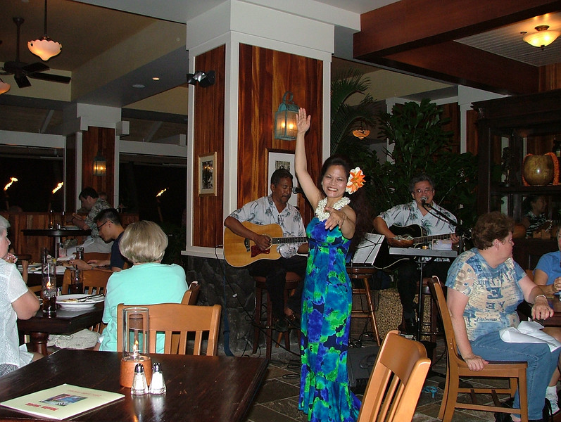 Nothing like a soul stirring hula dancer to set the mood here at the Outrigger Waikiki on the Beach