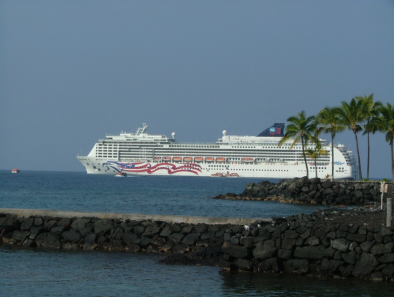 NCL PRIDE OF HAWAII, WHERE WE TENDERED AT KAILUA-KONA ON THE BIG ISLAND
