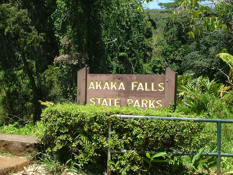 FAMOUS AKAKA FALLS STAE PARK IN HILO, HAWAII
