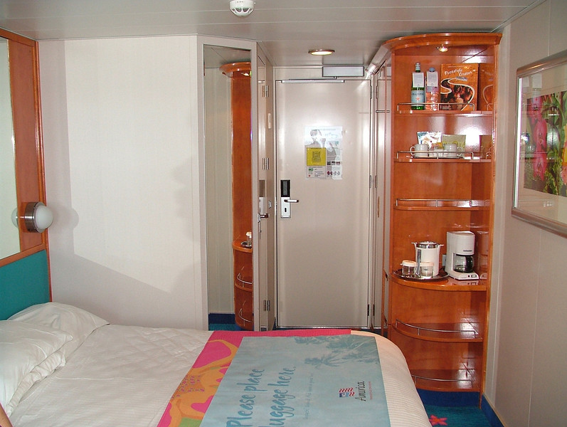 "OUR AFT BALCONY STATEROOM ON NCL ""PRIDE OF AMERICA"" THESE FANTAIL STATEROOMS GIVE YOU MUCH BIGGER BALCONYS, AND ARE WONDERFUL FOR VIEWING"