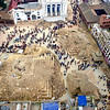 Much of Kathmandu's famous Durbar Square was destroyed (AP).