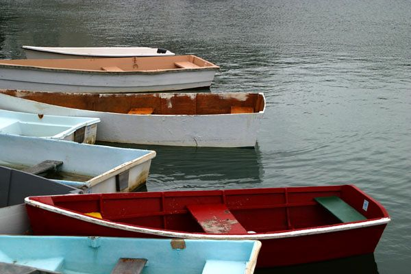 """DINGHY"" BOATS-ROCKPORT, MA. HARBOR"