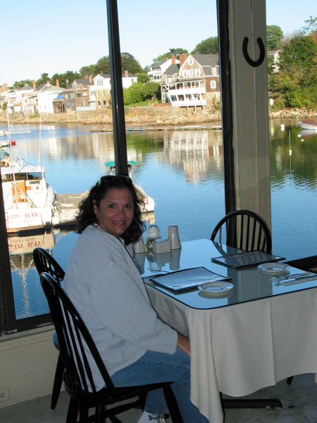 KIM DINING AT ROCKPORT, MA. RESTAURANT