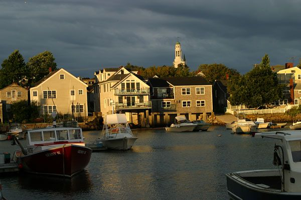 EARLY AM LIGHT AT ROCKPORT, MA. HARBOR