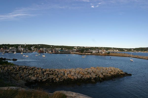 PANORAMIC VIEW OF ROCKPORT, MA. HARBOR