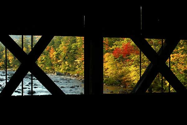 VIEW FROM ALBANY COVERED BRIDGE-KANCAMAGUS HWY, NH.