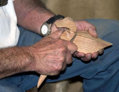 Lafayette -- Acadian Village woodcarver